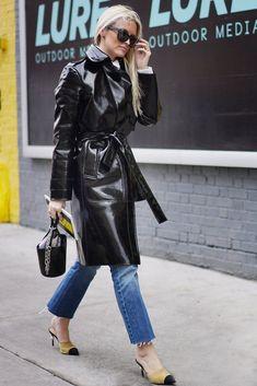 Street Style New York Fashion Week Fall 2017   POPSUGAR Fashion #RaincoatsForWomenNewYork