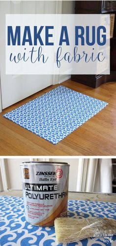 How To Make A Custom Rug Out of Fabric
