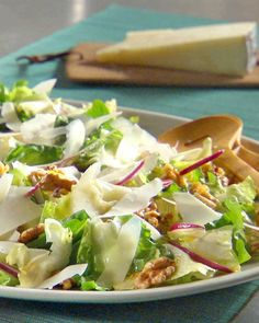 This simple side salad is delicious paired with roasted chicken and vegetables.