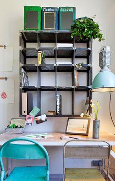 Cecilia Mallardi interior design project at Casa Decor Madrid 2013. Workspace