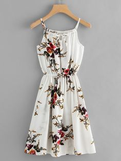 Floral Print Tie Neck Cami DressFor Women-romwe - Floral Print Tie Neck Cami DressFor Women-romwe Source by - Style Outfits, Cute Casual Outfits, Cute Summer Outfits, Pretty Outfits, Pretty Dresses, Beautiful Dresses, Casual Dresses, Short Dresses, Summer Dresses