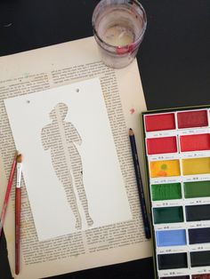 Silhouettes to make negatives on book pages!
