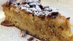 torta di mele - italian apple cake with pine nuts [ sub 1 cup oat flour; 10 g baking powder ] . *
