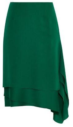 Cédric Charlier Layered-hem satin skirt  Price : 474.00$