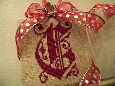 ~Initial Christmas Cross-Stitch Ornament~ Many designs for Cross Stitch on this blog....