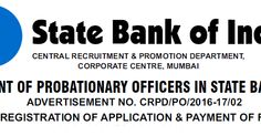 SBI PO Recruitment 2016 ~ Apply Online Now ~ Indian Jobs Alerts | Latest Government Jobs in India