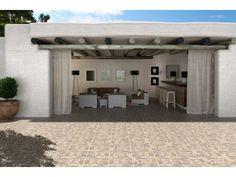 Flagstone Grey Matt Ceramic Floor Tile - 430 x Country Retreats, Living Room Flooring, Flagstone, Rustic Style, Tile Floor, Tiles, Construction, Patio, Ceramics