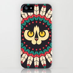 Indian Cat iPhone & iPod Case by Mrs. Opossum - $35.00