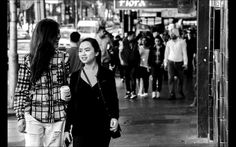 I have chosen to take pictures of people walking to and from Flinders St station. I like this image as its focussed on the 2 two girls and gives a sense of depth of field.