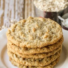 Chocolate Chip Cookies, Oatmeal Coconut Cookies, Oatmeal Cookie Recipes, Best Cookie Recipes, Chocolate Chips, Köstliche Desserts, Delicious Desserts, Brownies, Coconut Recipes