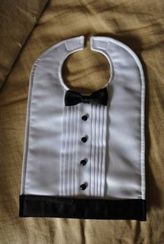 Tuxedo bib - for reception.