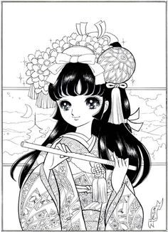 Anime coloring pages on Pinterest