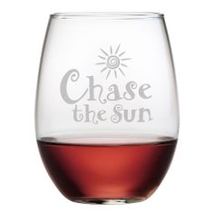 Chase The Sun Stemless Wine Glass