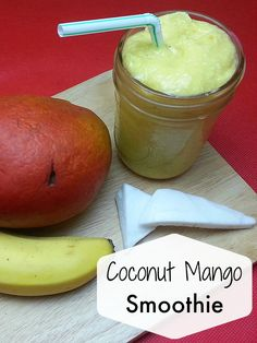 Coconut Mango Smoothie - vegan and gluten-free
