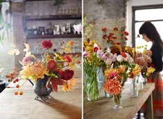 gorgeous autumn blooms / Amy Merrick via The Makers Project