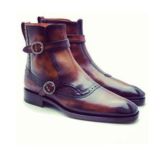 Bespoke+Brown+Double+Buckle+Ankle+boots,+Men+Brown+Ankle+boots Quality+Cow++hide+leather Cow+Leather+Upper+&+Inner+calf+leather+ Slight+color+variations+possible+due+to+differing+screen+and+photographic+resolutions. we+also+customize+. Buckle Ankle Boots, Brown Ankle Boots, Brown Shoe, High Leather Boots, Leather Heels, Calf Leather, Chelsea Shoes, Men's Wedding Shoes, Dress With Boots