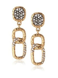 60% OFF Tat2 Designs Capri Crystal Link Earrings