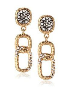 60% OFF Tat2 Designs Capri Crystal Link Earrings