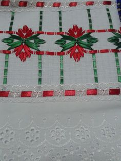 Discover thousands of images about Karin Valverde Ribbon Embroidery Tutorial, Embroidery Stitches, Ribbon Work, Silk Ribbon, Swedish Embroidery, Monks Cloth, Swedish Weaving, Creative Embroidery, Christmas Cross