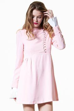 Sweet Day Dreamer Dress Discover the latest fashion trends online at storets.com #Off the shoulder Shirt Dress  #Ruffle High Neck Top  #Velvet Dress