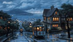 An-evening-journey.jpg (1379×800)  simplemente hermoso  Obra de arte del Sr. Evgeny Lushpin