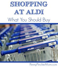 If you have not ever shopped at Aldi you are missing out on amazing deals and ways to really knock down your grocery budget.  If you are new to shopping there, you may not know which items you really try and which you may not want to grab.  I've got a list of the items we ALWYAS buy at Aldi -- and the savings we realize is unbelievable!  You've got to click over to get in on this list of the Must Buy Aldi Items!!!