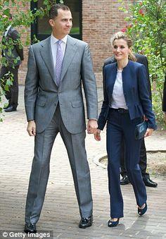 Princess Letizia of Spain and Crown Prince Felipe of Spain