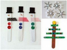 15 Adornos de Navidad que puedes hacer con tus hijos - Adornos navideños con palos de helado