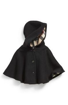 Burberry 'Rosa' Hooded Wool Cape (Baby Girls) available at #Nordstrom