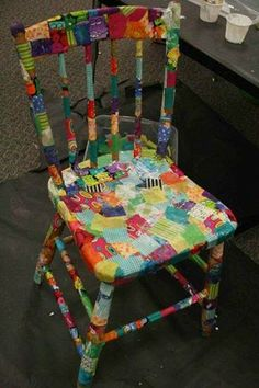 Shared From Google+ - Marketing QuiltWoman.com   From Nancy's Notes-- If you have an outdated or ugly piece of furniture, you can use mod podge decoupage to cover all or parts of it with scraps or shapes cut with a die cutting machine like the GO! This also works on many other items like old trays, wastebaskets, etc. made of metal or wood.