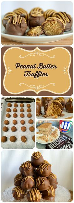 There's a whole lot to love about these truffles! They are cute, travel in large groups and have a rich peanut butter center with a creamy milk…