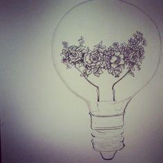 Light Bulb Art, Doodle Art, Doodles, Elegant, Tattoos, Drawings, Banner Ideas, Color Pictures, Instagram Posts