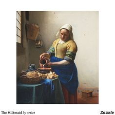The Milkmaid Canvas Artwork by Johannes Vermeer Johannes Vermeer, Caravaggio, Rembrandt, Paintings Famous, Famous Artists, Famous Artwork, Great Paintings, Beautiful Paintings, Canvas Artwork