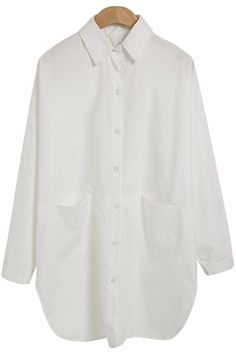 Solid Color Loose-Fitting Shirt