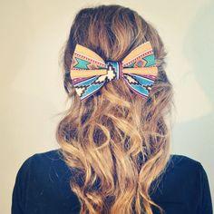 aztec hair bow