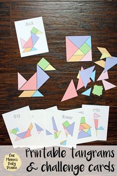 Printable Tangrams and Challenge Cards Kids Activity - - Printable Tangrams and Challenge Cards Kids Activity Best of One Mama's Daily Drama Printable tangrams and challenge cards kids game Puzzle Games For Kids, Fun Games For Kids, Puzzles For Kids, Kid Games, Printable Activities For Kids, Fun Activities, Easter Activities, Physical Activities, Outdoor Activities