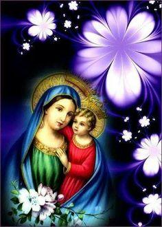 A VIRGEM MARIA COM O MENINO JESUS