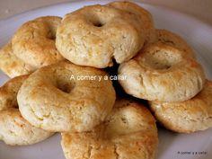 Beignets, Brownie Cookies, Sin Gluten, Bagel, Sweet Recipes, Donuts, Bread, Snacks, Cooking