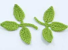 Crochet applique 6 medium apple green crochet by MyfanwysAppliques