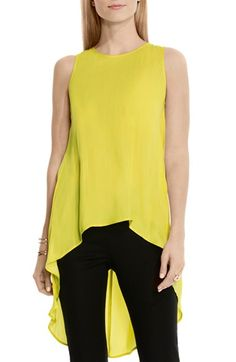 Vince Camuto High/Low Sleeveless Blouse