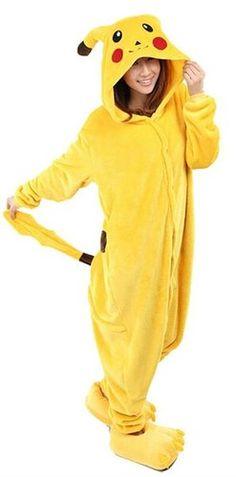 Très Chic Mailanda Unisexe Pikachu Kigurumi Cosplay Combinaison Pyjama ou…
