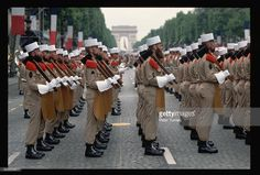 French Foreign Legion soldiers line up in formation. They march in the Bastille…