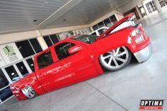 Bagged and slammed #Chevy crew cab at #SEMA 2013