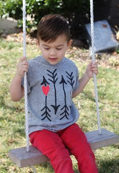 Shot Through the Heart: Valentine Stenciled T-Shirt free template and tutorial by smallfriendly.com