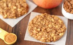 Clean-Eating Apple Pie Oatmeal Cookies -- these skinny cookies don't taste healthy at all! You'll never need another oatmeal cookie recipe again! Only 100 cal. Healthy Cookie Recipes, Oatmeal Cookie Recipes, Healthy Cookies, Healthy Baking, Dessert Recipes, Cooking Recipes, Desserts, Meat Recipes, Cooking Tips
