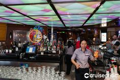 Kaleidoscope Bar (Deck The casino bar is really just outside the casino, along the main promenade. Grab a seat there for trivia or live music at the stage opposite. Carnival Glory, Live Music, Trivia, Westerns, Times Square, Maine, The Outsiders, Cruise, Stage