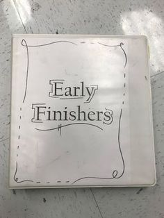 In a middle school art class, I have students who have completed the project on day two, and students who won't finish until day seven. T...