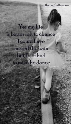 Dance is the only thing I will purposely put myself thru pain for