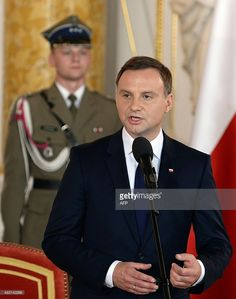 Andrzej Duda, the new Polish President speaks during his inauguration ceremony at the Royal Castle in Warsaw on August Get premium, high resolution news photos at Getty Images Poland Tourism, Inauguration Ceremony, Warsaw, Presidents, Alternative, Royalty, Castle, Polish, History