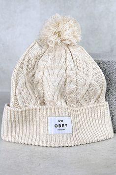 b496d33d00e Obey Freja Beige Knit Beanie on Shopstyle. Knit Beanie